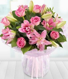 Lavish Pink Rose and Lily*