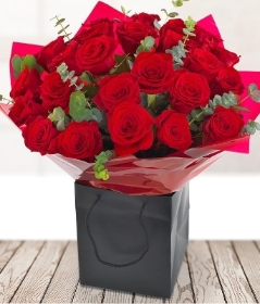 24 Red Roses Gift Box**