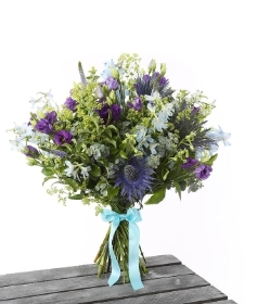 Purple & Blue Natural Hand Tied*